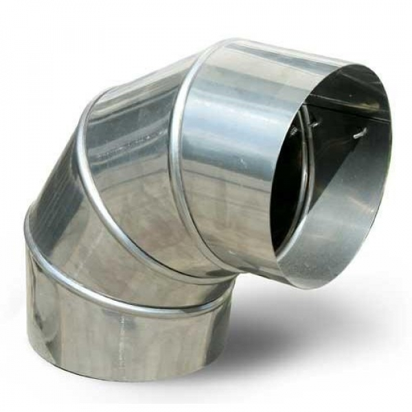 Отвод крутоизогнутый 90 гр печной штампованный